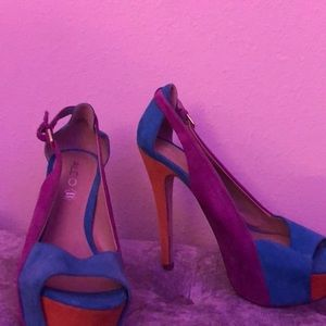 Colorful Aldo pumps